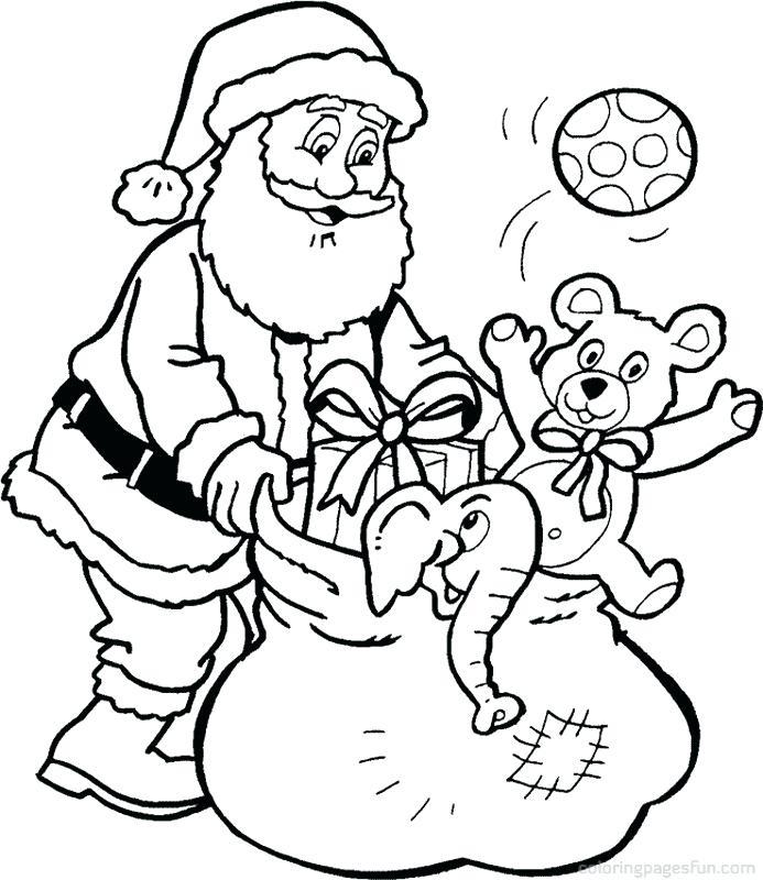 693x800 Santa Color Sheets Gifts Coloring Page Christmas Elf Coloring