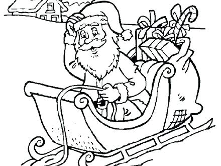 440x330 Santa In Sleigh Coloring Page Free Printable Sleigh Coloring Pages