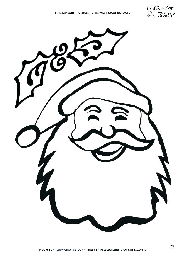 745x1053 Coloring Page Santa