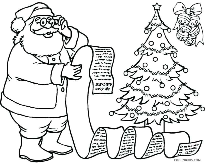 820x653 Coloring Pages Santa