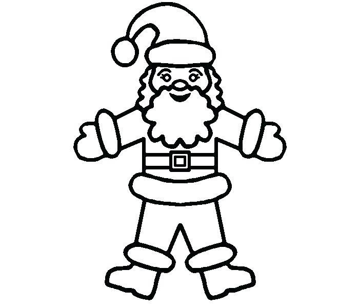 700x600 Santa Sleigh Coloring Page