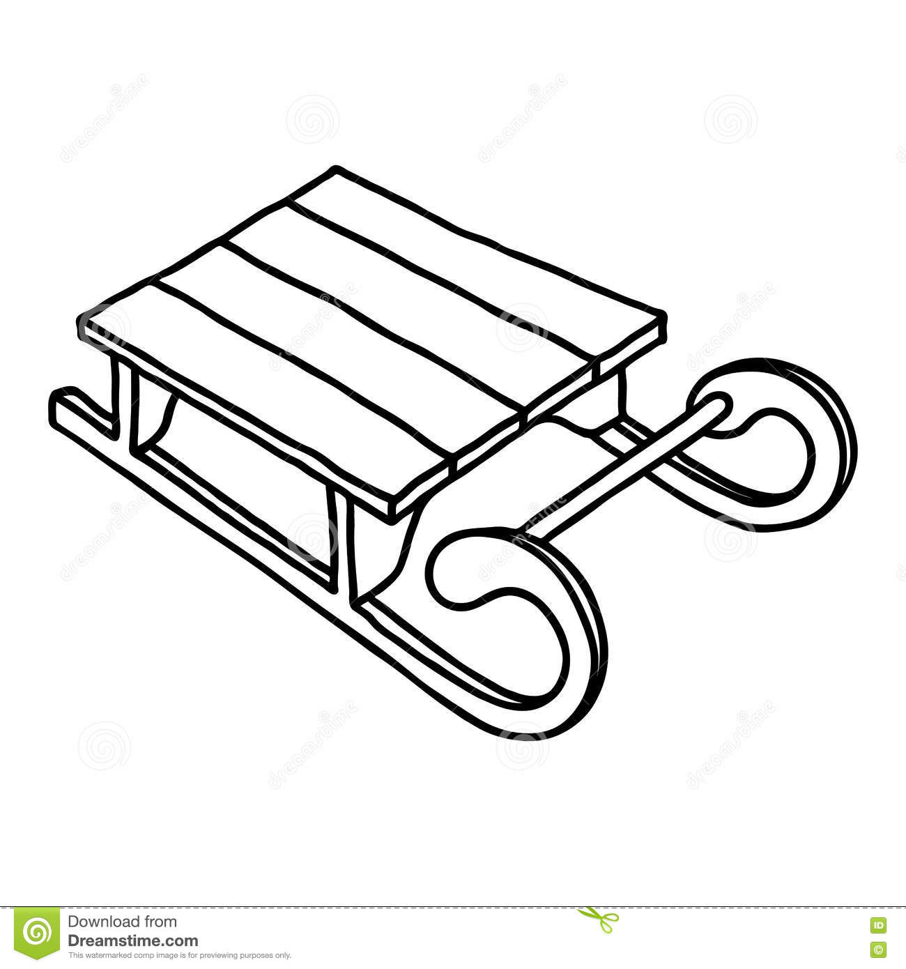 1300x1390 Drawing Of A Sled How To Draw Santa's Sleigh (Christmas)