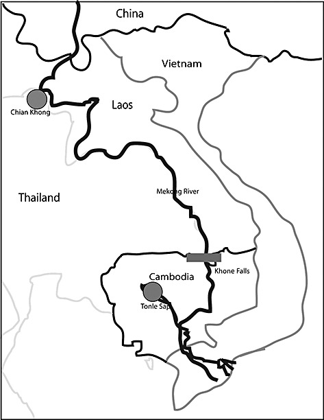 473x612 Location Of Samples Collected From Thailand And Tonle Sap