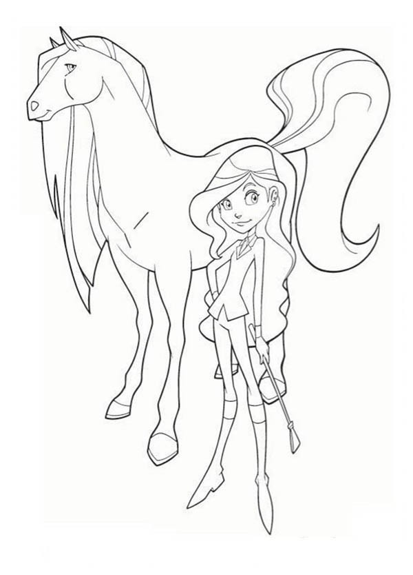 600x834 Drawing Sarah And Scarlet From Horseland Coloring Pages Batch
