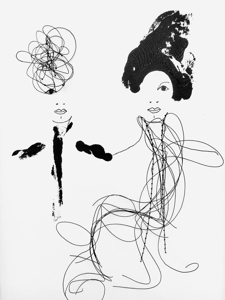 770x1027 Saatchi Art Out Together Drawing By Sarah Albisser