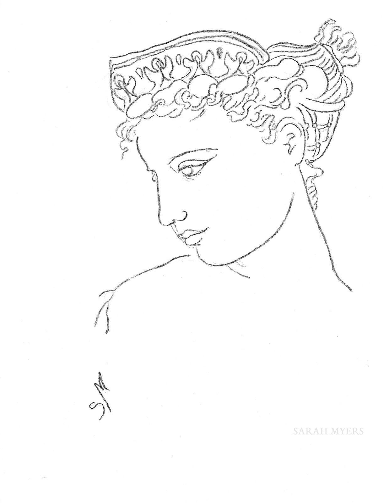 1239x1600 The Other Oeuvre Woman With A Diadem