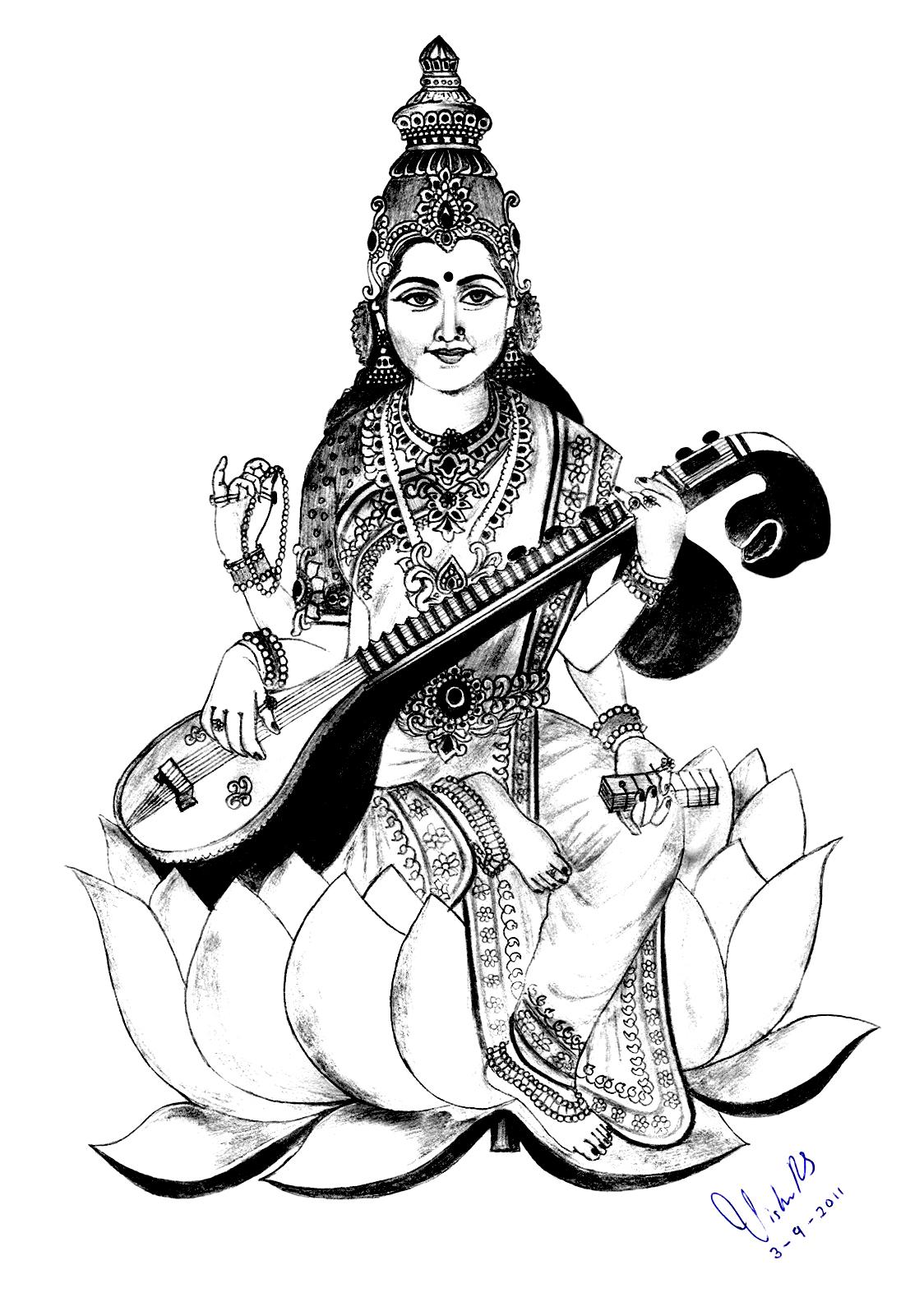 1124x1584 India Saraswati 2 India Amp Bollywood