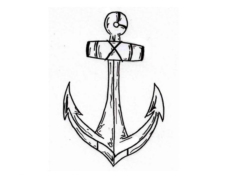 805x604 Drawing Simple Anchor Tattoos On Wrist As Well As Simple Anchor
