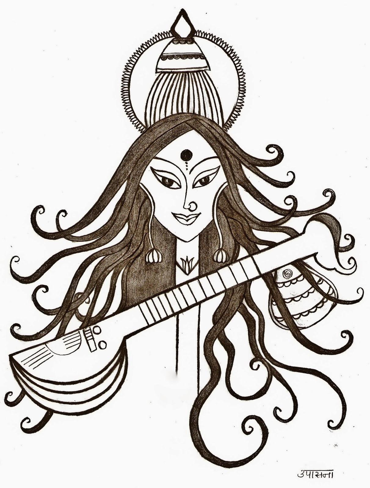 1212x1600 The Science Of Symbolism ! (Saraswati Pooja) ~ More Than Words !