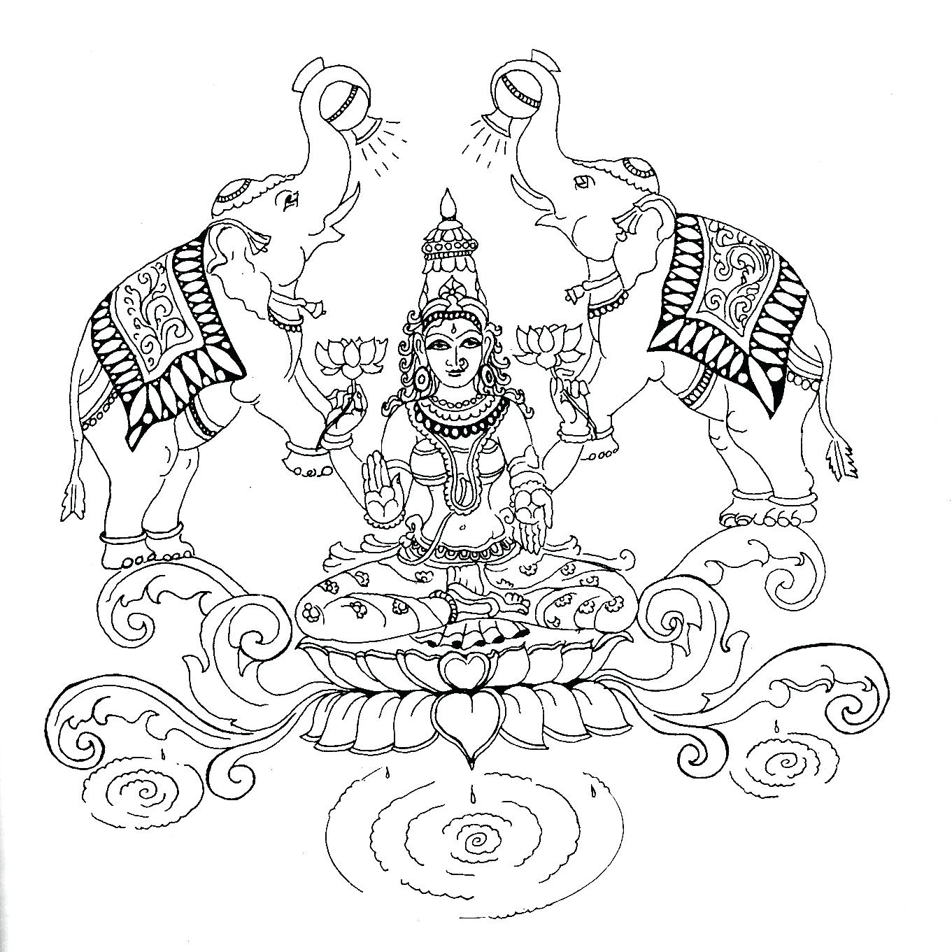 1361x1361 Coloring Saraswati Coloring Pages Simple Drawing Of How To Draw