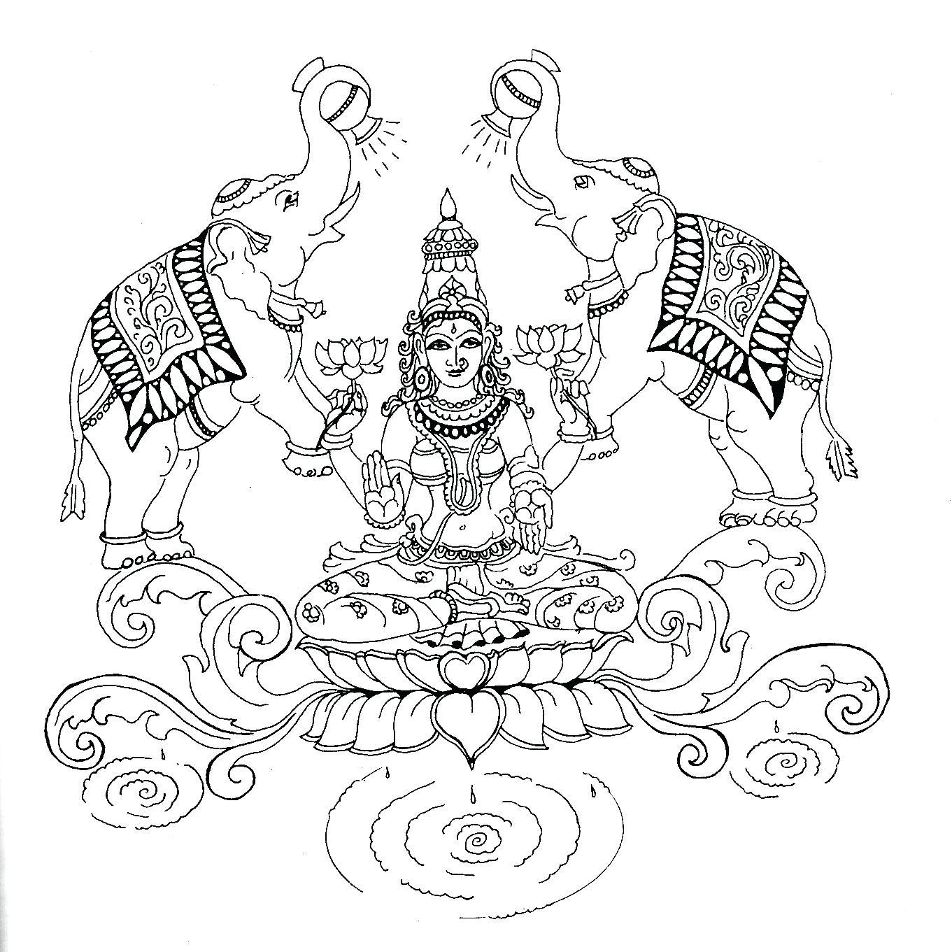 Saraswati Drawing at GetDrawings.com | Free for personal use ...