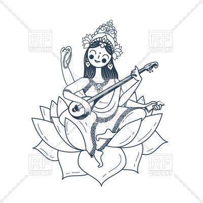 400x400 Happy Vasant Panchami Saraswati