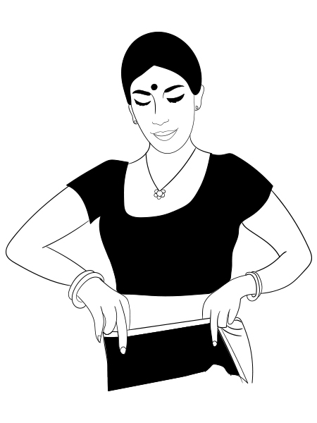 450x600 How To Wear A Saree In Bengali Style