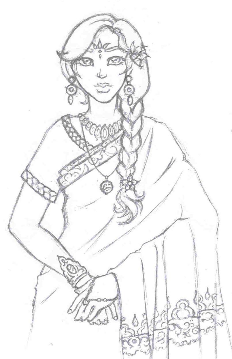 805x1244 Sari Girl By Arleen
