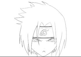 280x200 How To Draw Sasuke Uchiha Face