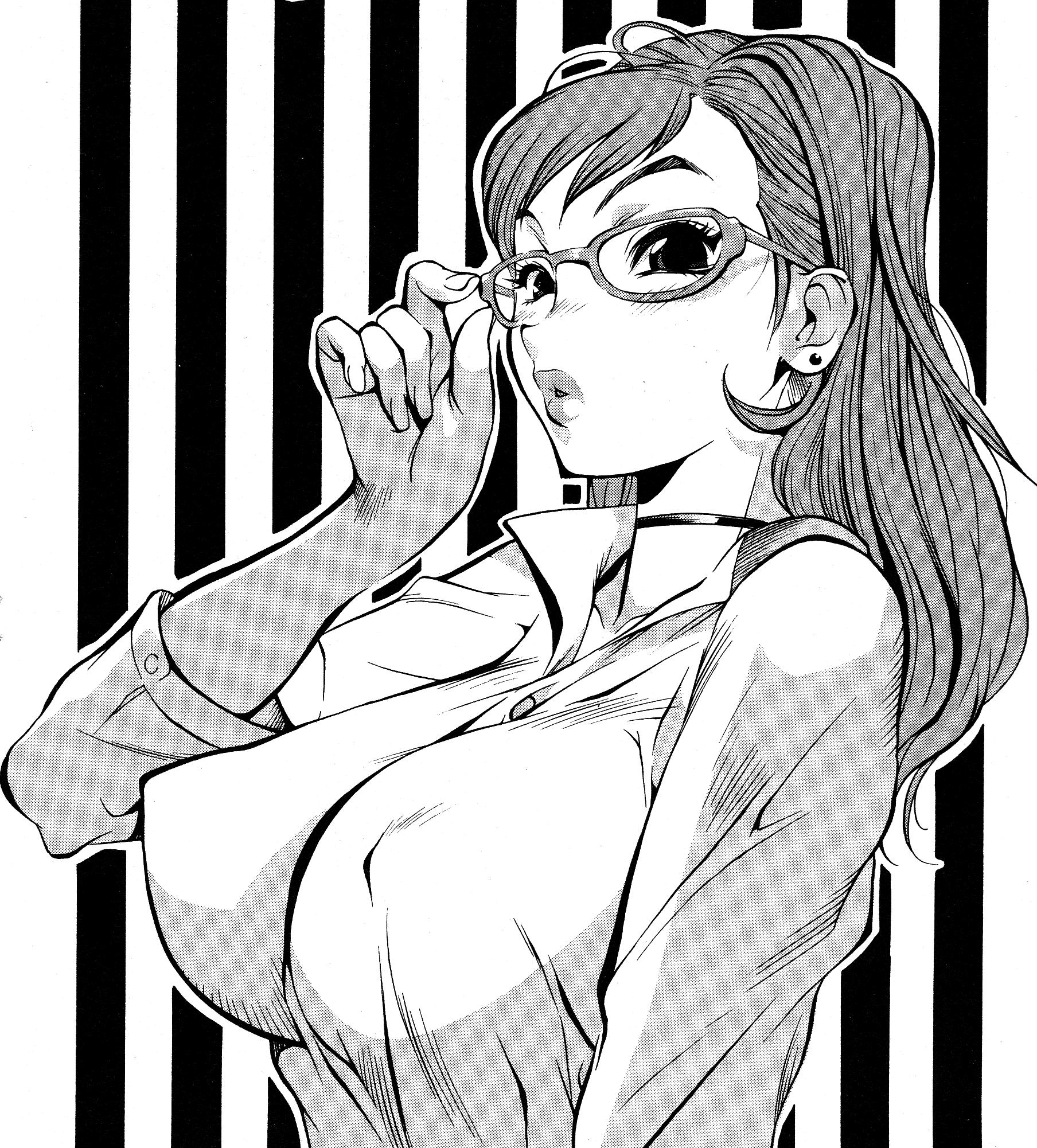 1808x2002 Kotoyoshi 026 Sketch Manga Girl Jc