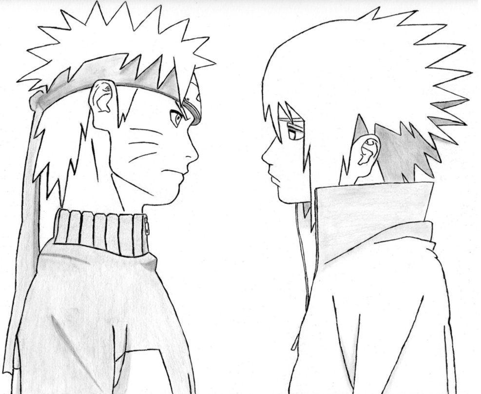 987x809 Naruto Sasuke By Pkkhase0