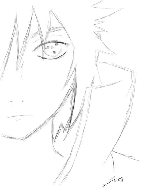 600x800 Sasuke Uchiha 5 Minute Drawing (Soranomarumeenma) By Meenma