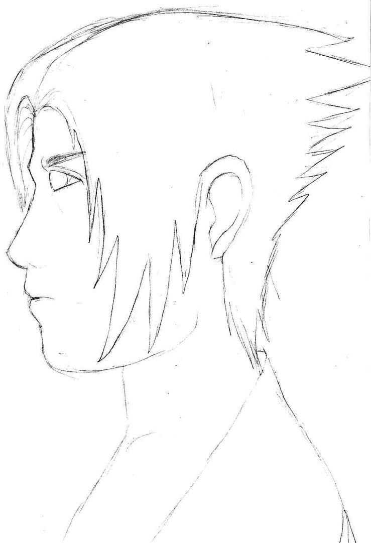 739x1082 Sasuke Uchiha Side View By Crush9arts