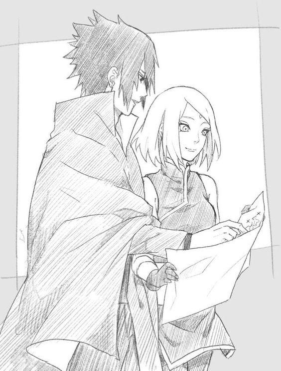 564x743 Sasusaku Traveling Together Naruto Naruto, Sasuke
