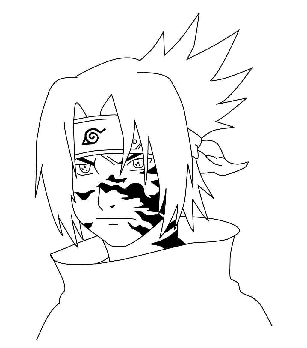 1025x1160 Sasuke Curse Mark By Ariki45