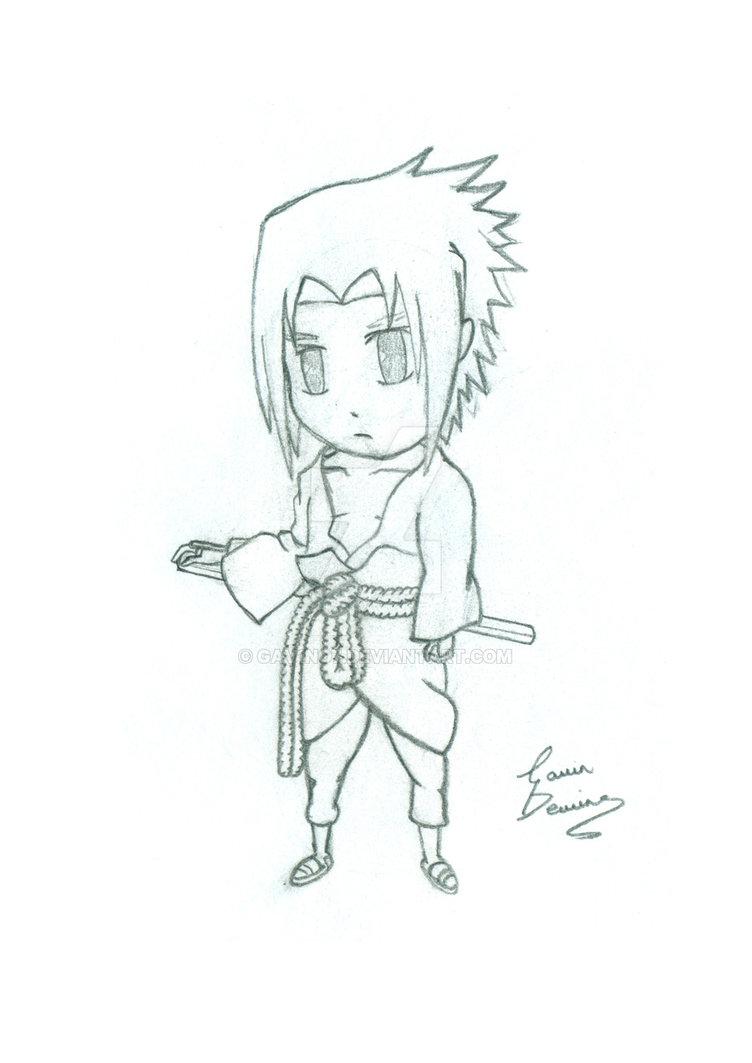 752x1063 Chibi Sasuke Drawing By Gav1no7