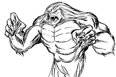 Sasquatch Drawing