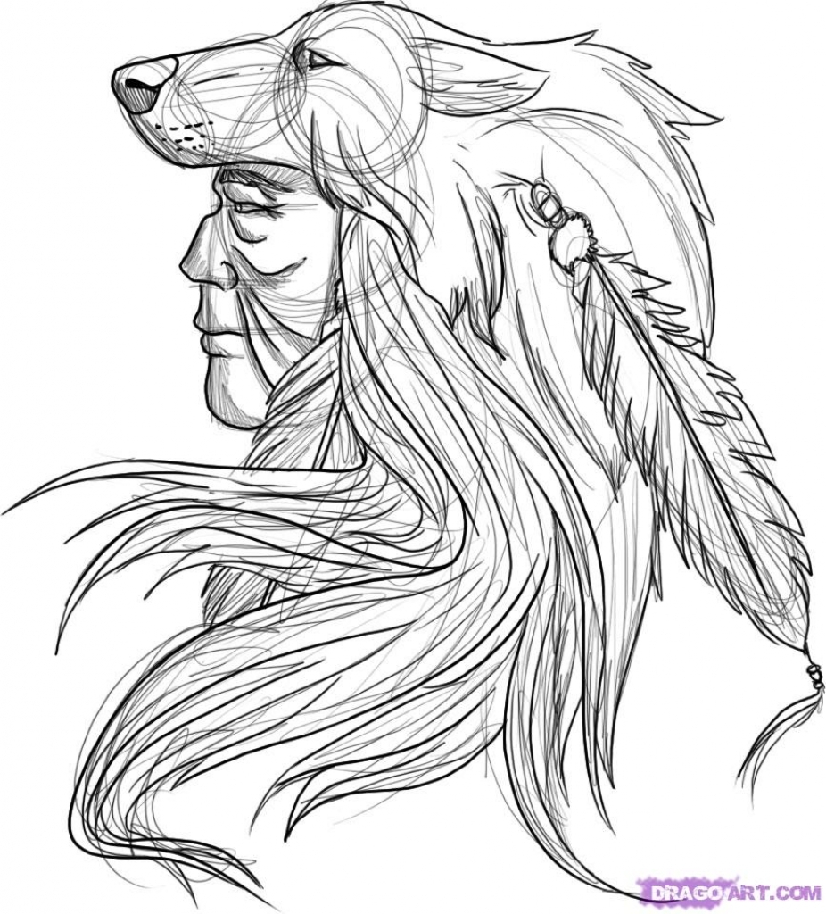 926x1024 Native American Drawings How To Draw A Native American Warrior