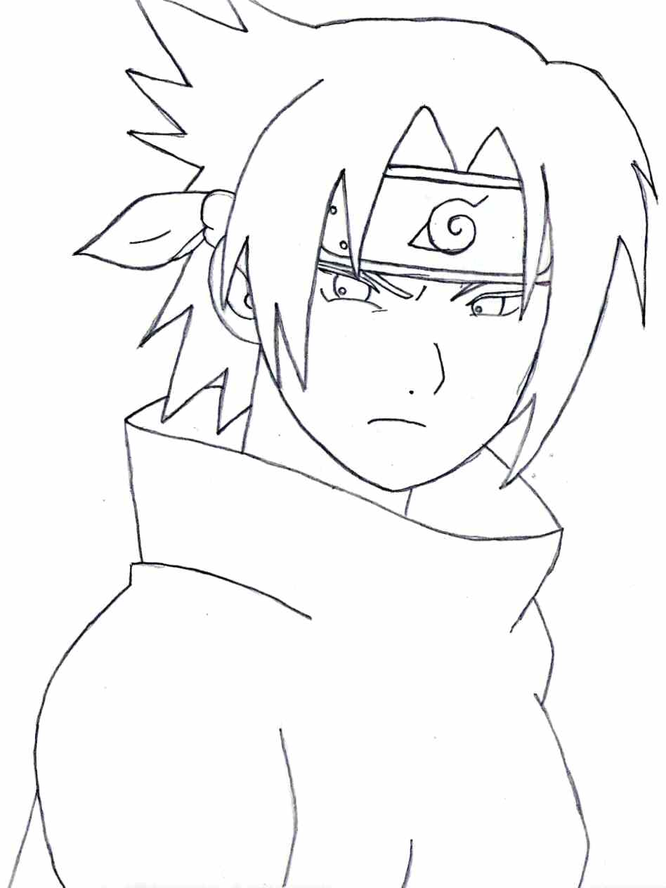 948x1264 Coloring Sasuke Uchiha Coloring Pages Drawing Easy Pictures