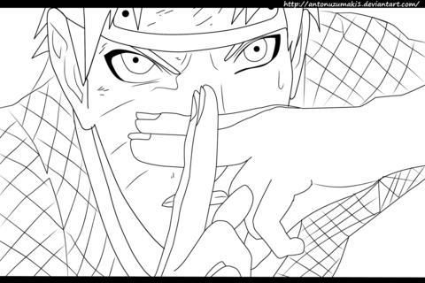 480x320 Naruto 697 Naruto Vs. Sasuke Coloring Page Free Printable