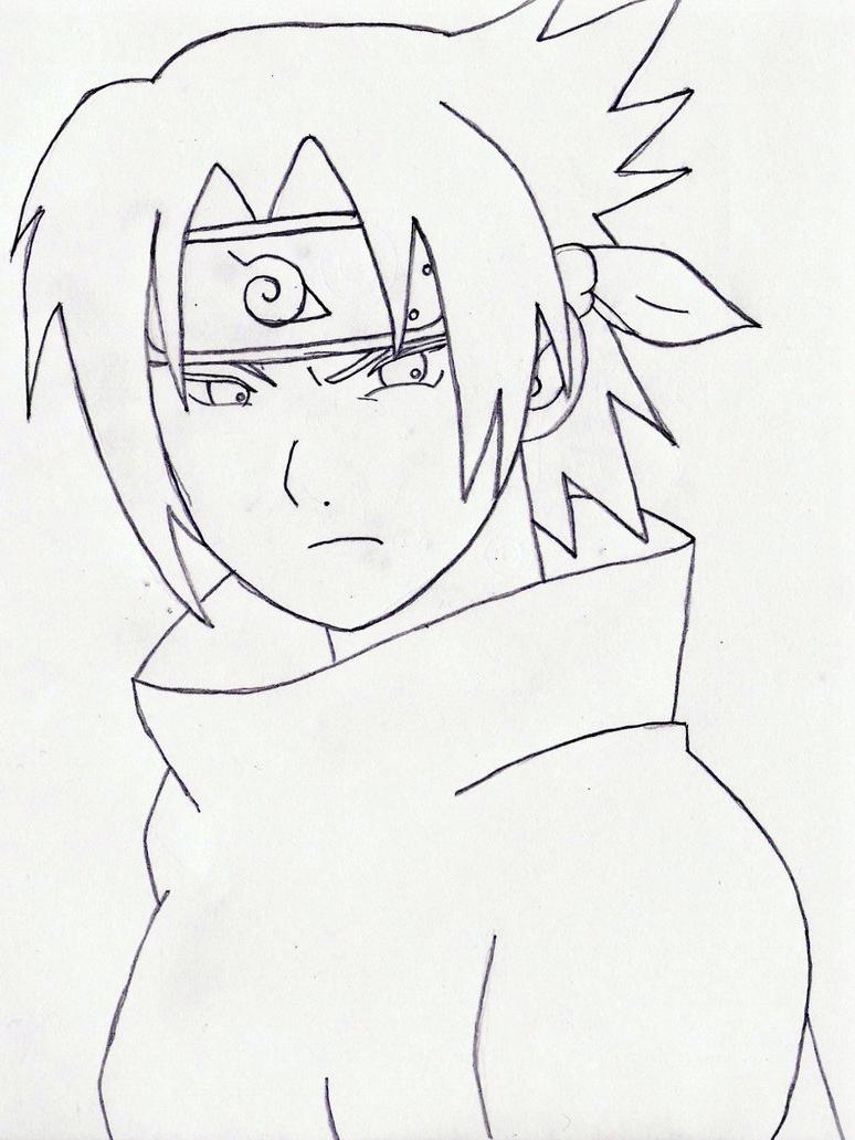 774x1032 Naruto Sasuke Drawing Face Sasuke Uchiha By Miraanimeify