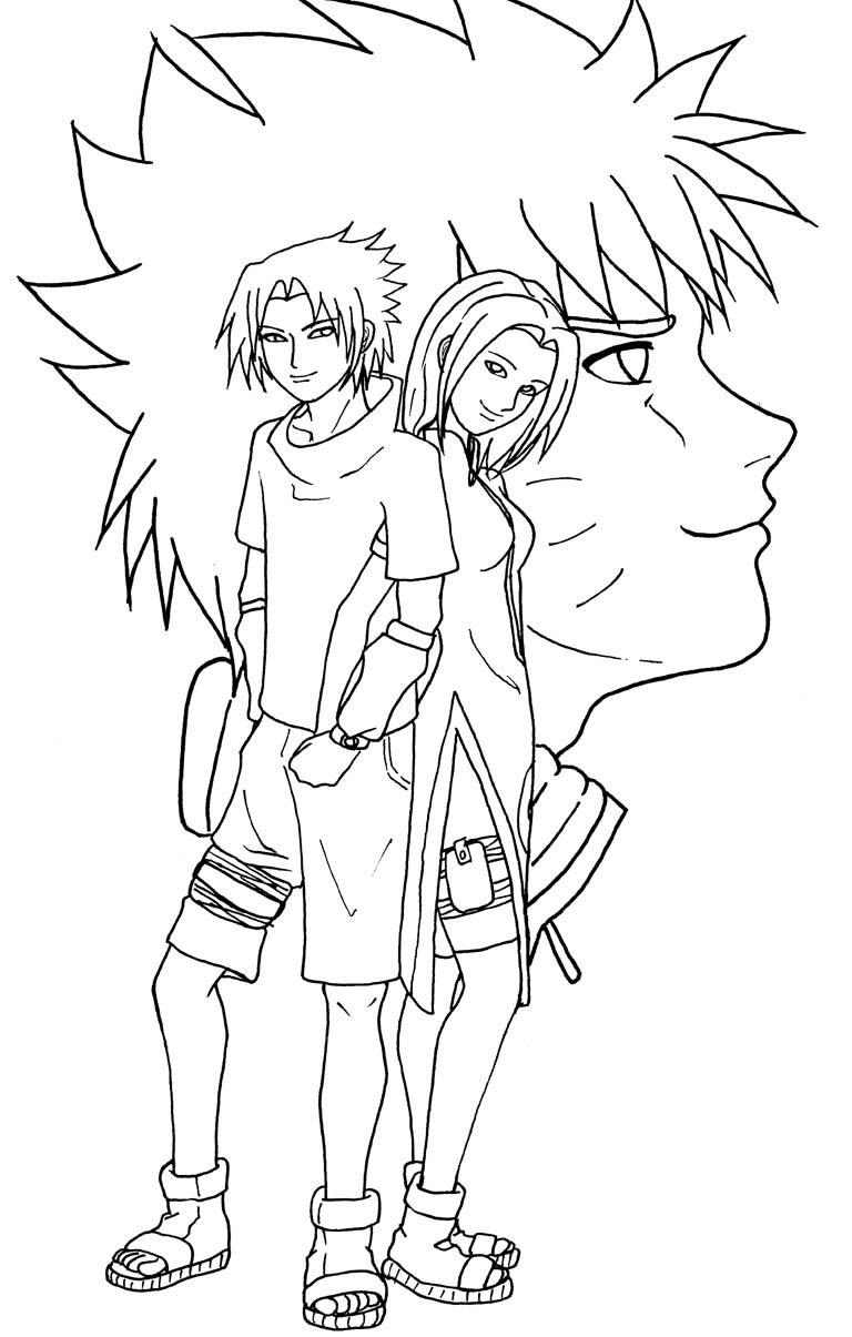768x1205 Sasuke, Sakura And Naruto By Kshock