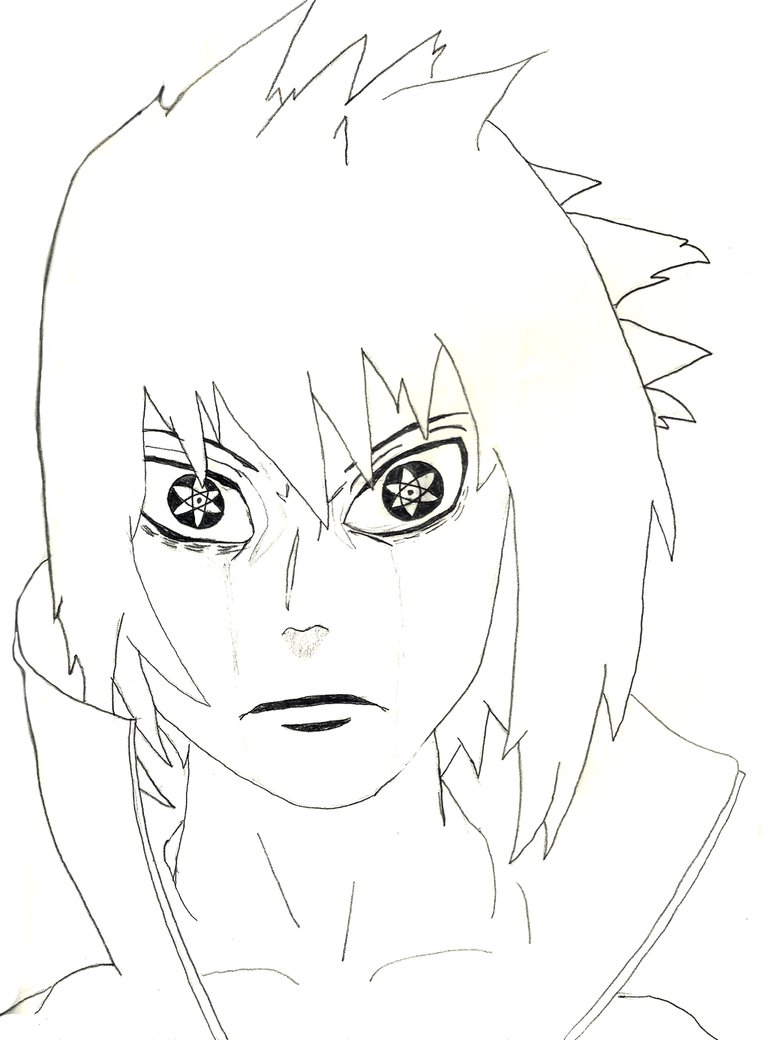 768x1040 Sasuke Uchiha Mangekyo Sharingan Awakening By Thejazio