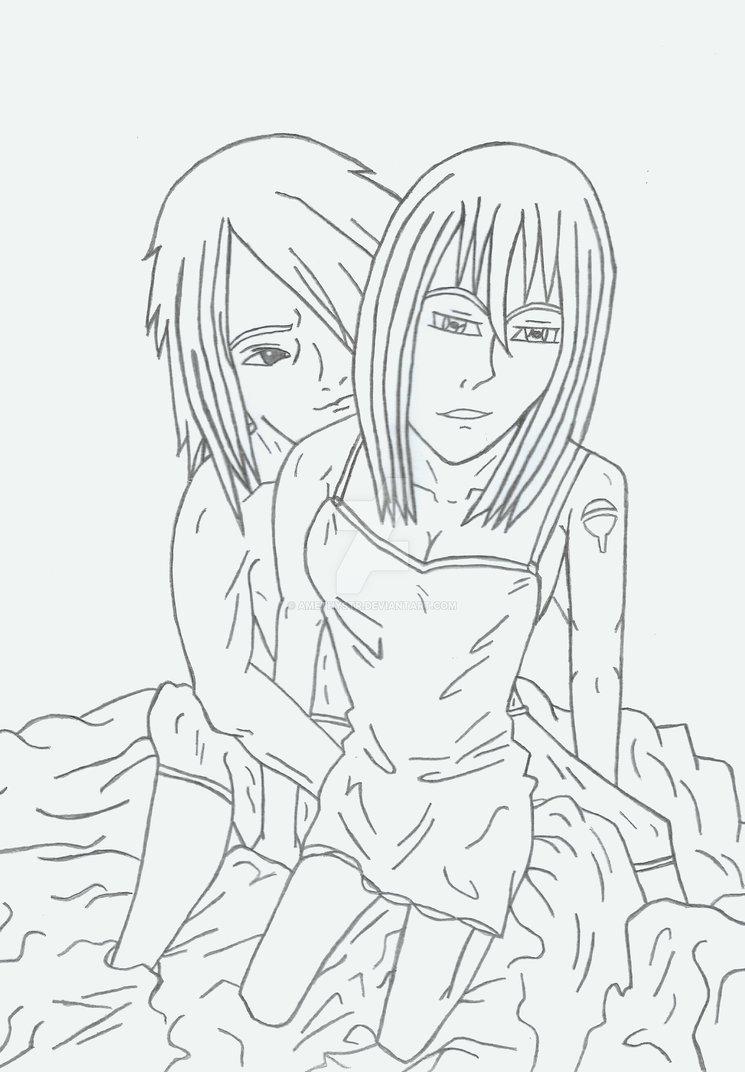 745x1072 Sasuke X Ame Uchiha A Love Shared So Deep Sketch By Amethystr