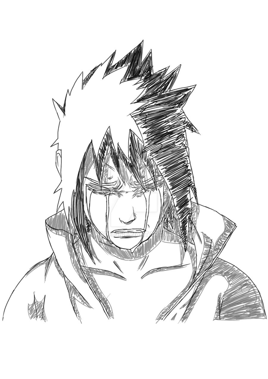900x1272 Sasuke Sketch Cry By Fade13