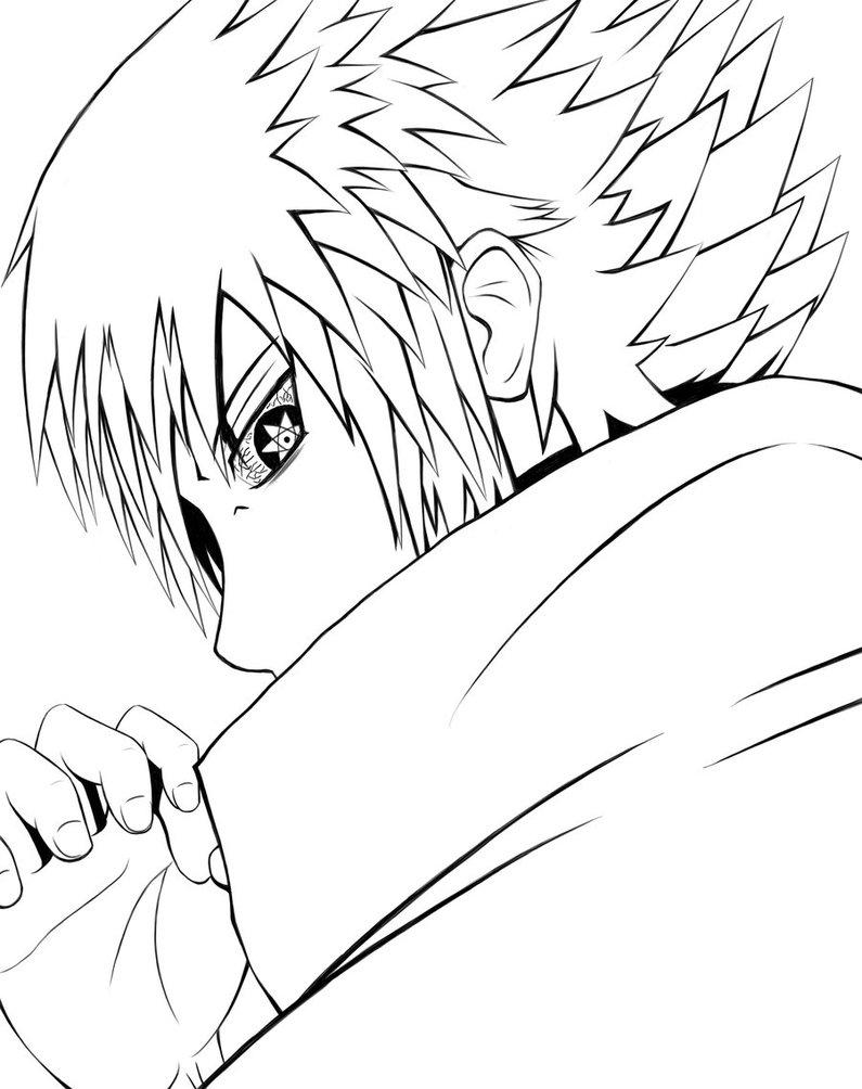 795x1004 Uchiha Sasuke Coloring Pages For Kids Free Coloring Pages For Kids