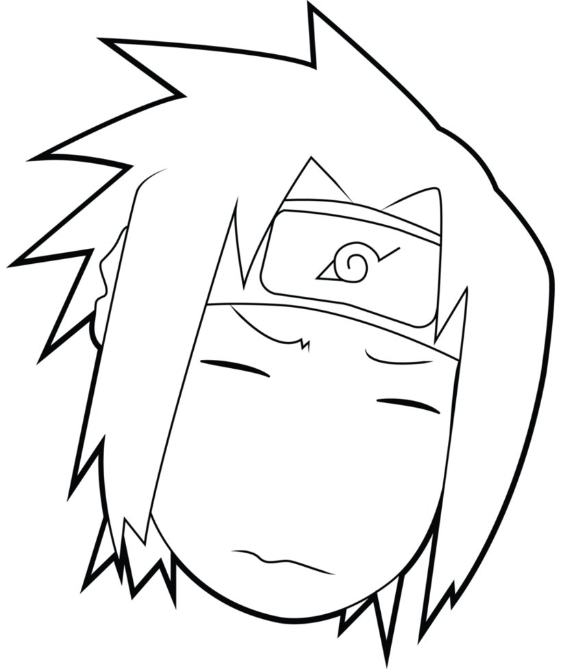 819x976 Uchiha Sasuke Funny Face By Skurpix
