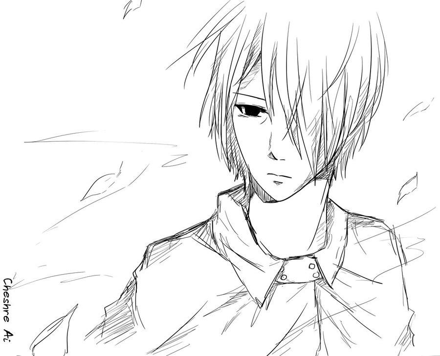 900x729 Uchiha Sasuke [Sketch] By Cheshire Ai