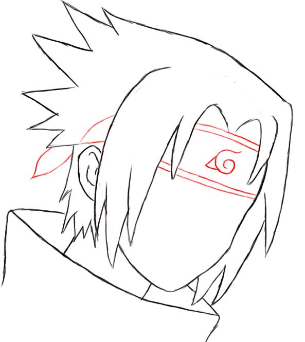 593x665 How To Draw Sasuke