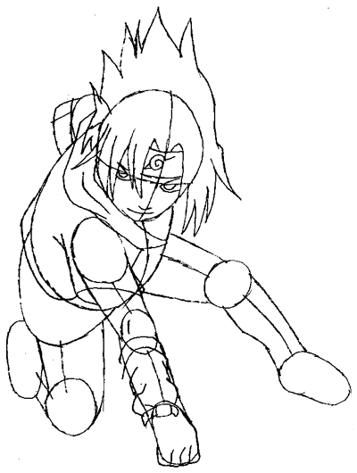 400x530 How To Draw Sasuke Uchiha From Naruto In Easy Step By Step Drawing
