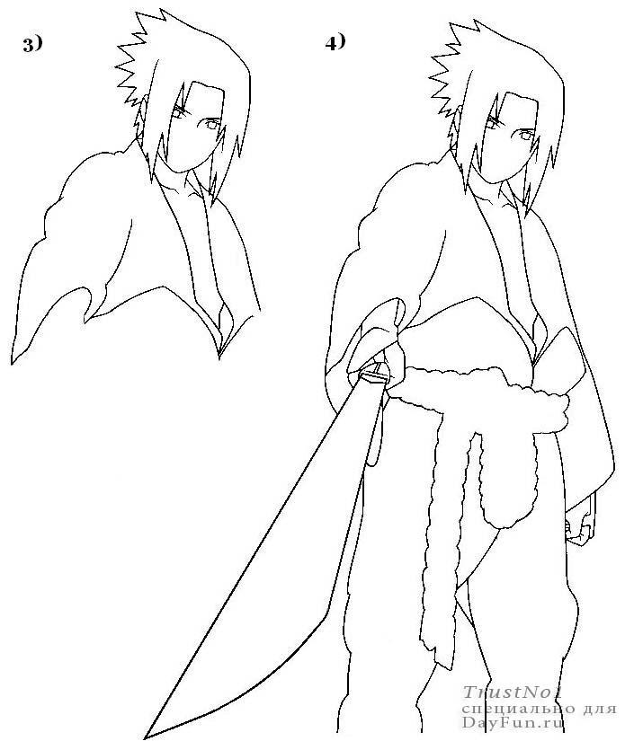 705x825 How To Draw Sasuke Step By Step