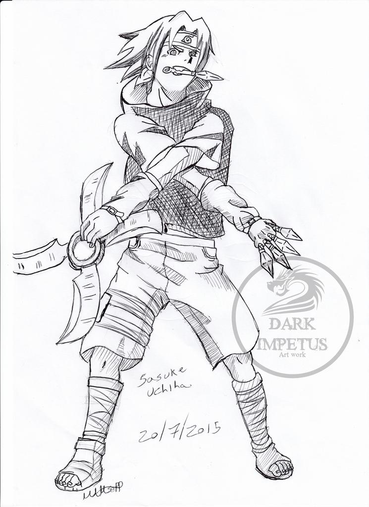 Sasuke Uchiha Drawing