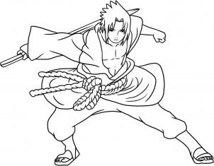 302x235 How To Draw Sasuke Shippuden Step 7 Shippuden's Of Naruto