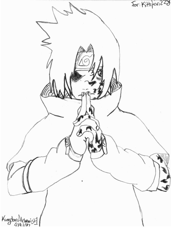 600x805 Sasuke Uchiha For Kitty D By Kingdomalchemist1