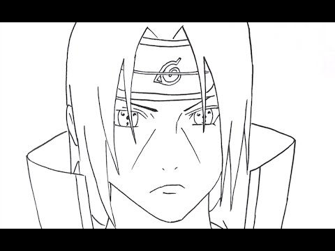 480x360 How To Draw Uchiha Itachi Part 1 (Step By Step Tutorial)