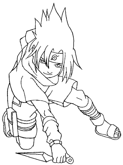 400x534 How To Draw Sasuke Uchiha From Naruto In Easy Step By Step Drawing