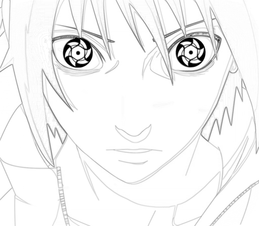 900x785 Sasuke Uchiha Lineart By Aoba Uchiha