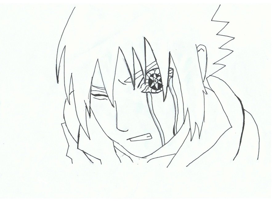 900x654 Sasuke Uchiha Sharingan Drawing