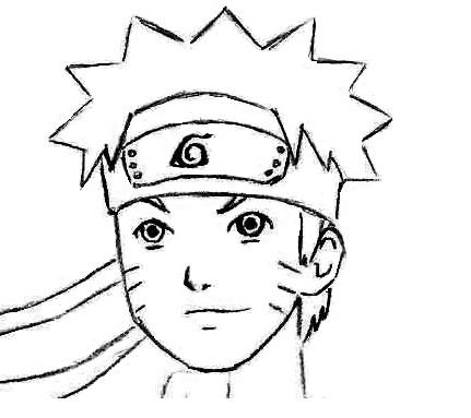 431x383 Drawn Naruto Face