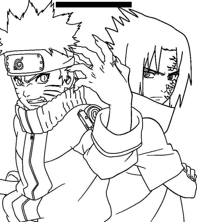 766x866 Drawn Naruto Line Drawing